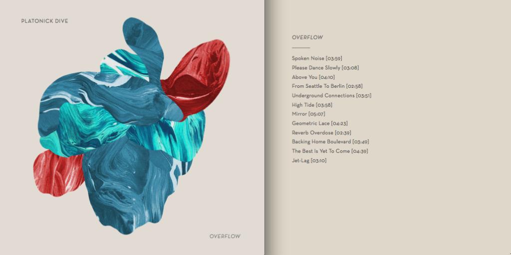 platonick dive_copertina + tracklist overflow